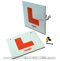 Screenflow Rigid Motorcycle / Scooter L Plates with Fittings