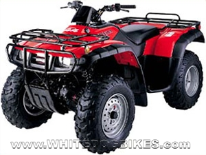 Honda Trx350 Fourtrax Quad Bike Specs And Info White Dog