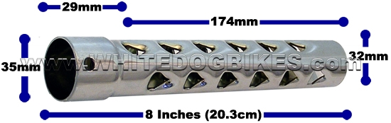 Motorcycle baffle sizes