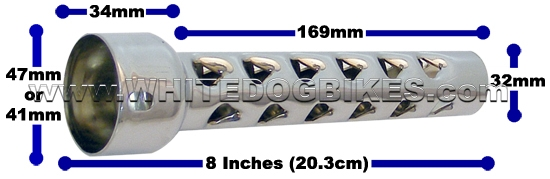 Motorbike baffle sizes