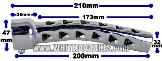 Motorbike baffle dimensions