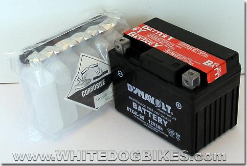 Gilera DNA 50 battery