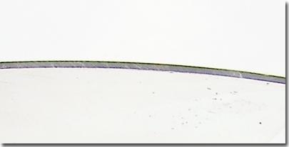 Visor cross section