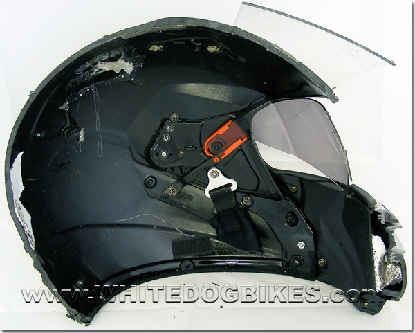 Inside the helmet shell