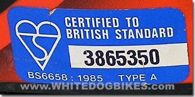 BS 6658:1985 helmet standard