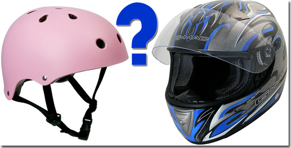 Push or motorbike helmet?