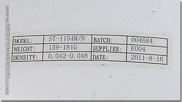 EPS Liner info sticker