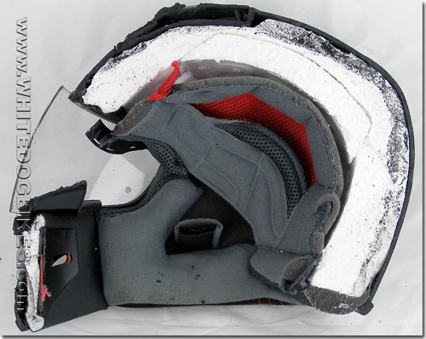 Half the helmet with liner