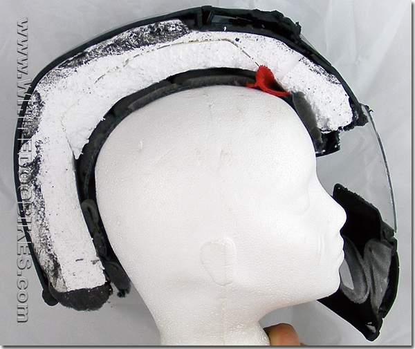 How the helmet fits on your head
