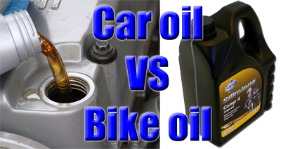 Car vs bike oil