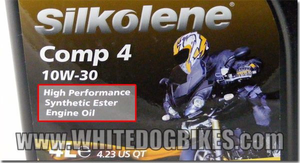 Silkolene synthetic oil - front