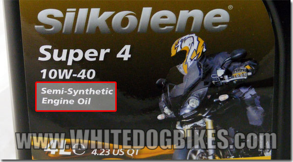 Silkolene semi synthetic oil - front