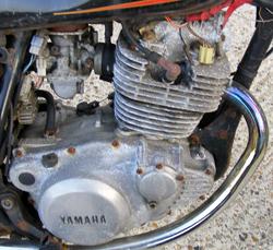 Yamaha SR 250 engine