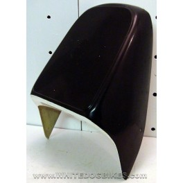 White and Black Rear Seat Cowl-Unknown Fitment