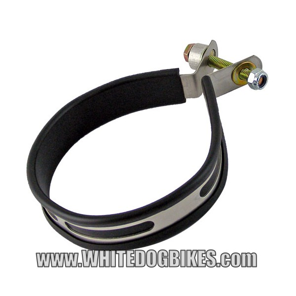 Motorcycle Exhaust Hanger Strap And Bolt White Dog