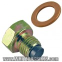 Magnetic Oil Drain Plug and Washer - M12 Bolt, 1.25mm Pitch